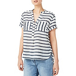 Dash - Ladder trim stripe blouse