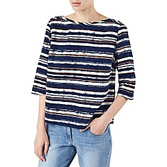 Dash - Navy latin stripe blouse