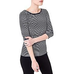 Precis - Petite 3/4 sleeve stripe top