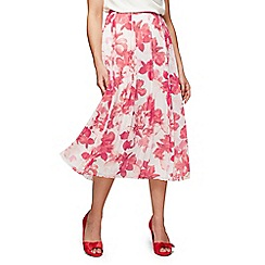 Jacques Vert - Hibiscus printed skirt