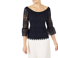 Jacques Vert - Bell sleeve lace top
