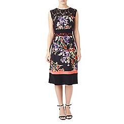 Precis - Petite print and lace dress