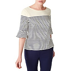 Precis - Petite jersey flute sleeves top