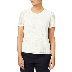 Eastex - Geo lace jersey top