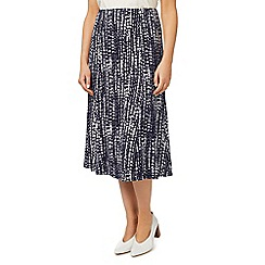 Eastex - Broken stripe jersey skirt