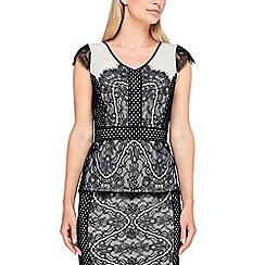 Jacques Vert - 2 lace structured blouse