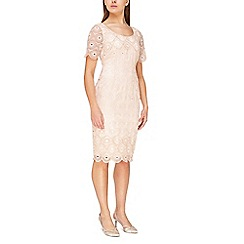 Jacques Vert - Sequin emb anglaise dress