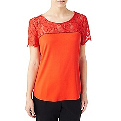 Precis - Petite lace mix t-shirt