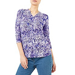 Dash - Seastorm print jersey top
