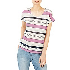 Dash - Linen stripe tee