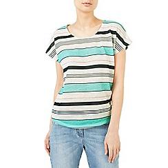 Dash - Blue stripe linen t-shirt