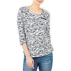 Dash - Wave stripe jersey top
