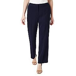 Precis - Petite navy wide leg trousers