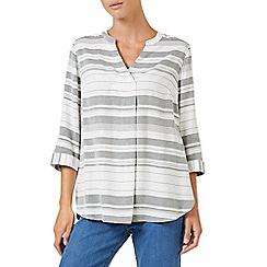 Dash - Textured stripe blouse