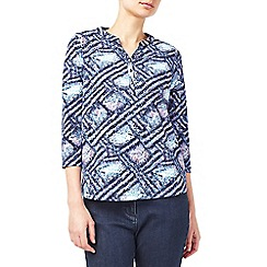 Dash - Broken pointellist print top