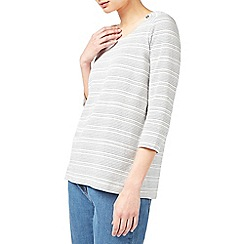 Dash - Dot stripe jersey top