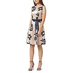 Precis - Petite floral jacquard dress