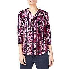 Dash - Latin line print top
