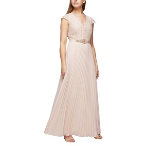 Jacques Vert Pleated emb bodice dress