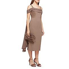 Jacques Vert - Lila lace insert drape dress