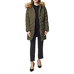 Precis - Petite fur trim hooded coat