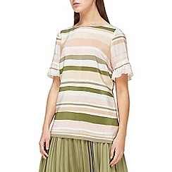 Jacques Vert - Stripe frill sleeves top