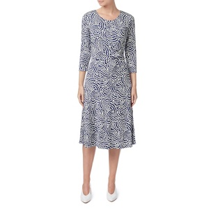 Eastex Dandelion texture flared dress
