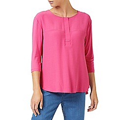 Dash - Pink woven jersey mix top