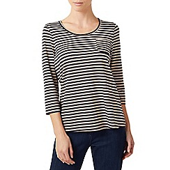 Dash - Stripe jersey top with trim