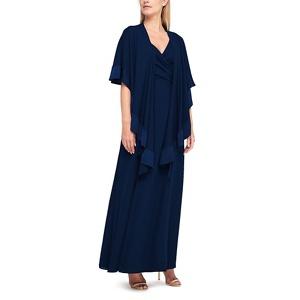 Jacques Vert Chiffon maxi shawl dress