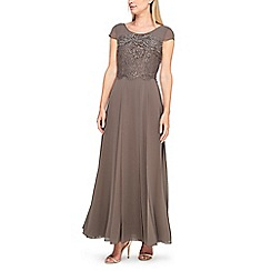 Jacques Vert - Morena lace and chiffon maxi dress