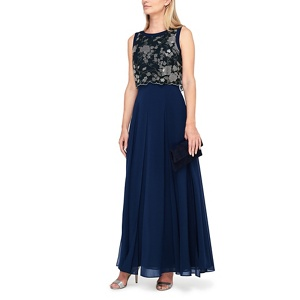 Jacques Vert Eva lace bodice maxi dress