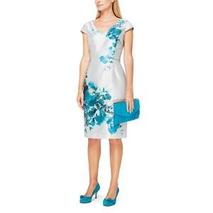 Jacques Vert Helena shantung floral print dress