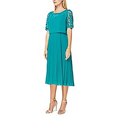 Jacques Vert - Esme lace and plisse dress