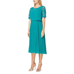 Jacques Vert Esme lace and plisse dress