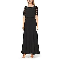 Jacques Vert - Esme lace and plisse maxi dress