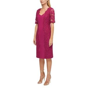 Jacques Vert Portia lace trim dress
