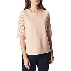 Precis - Petite knit lace sleeve top