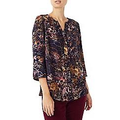 Dash - Dotty floral texture blouse