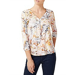 Dash - Linear floral jersey print