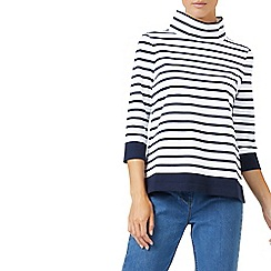 Dash - Engineered stripe turtle neck top
