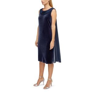 Jacques Vert Nina drape cape velvet dress