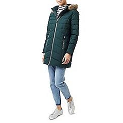 Dash - Bottle green long sleeves wadded coat