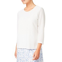Eastex - Textured jersey top