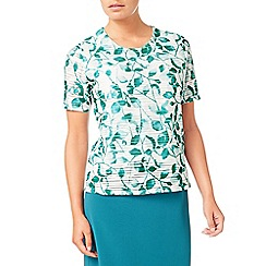 Eastex - Jade mono leaf jersey top