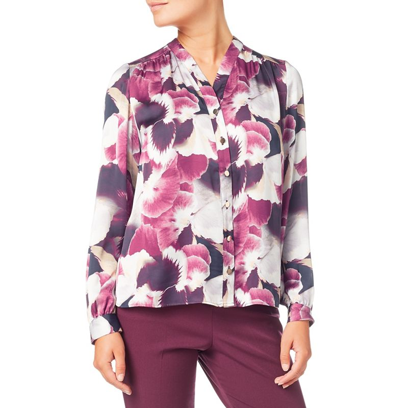 Eastex Harvest Bloom Print Blouse