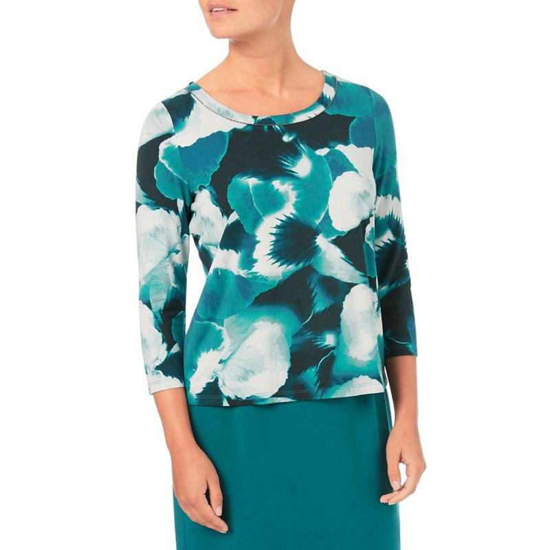 Eastex Mono harvest bloom jersey top