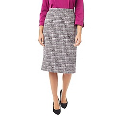 Eastex - Tipped tweed pencil skirt