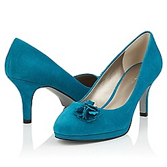Jacques Vert - Suede ruffle trim shoes