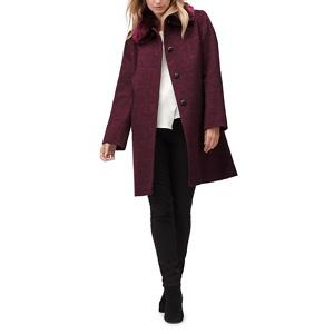 Jacques Vert Molly check faux fur trim coat